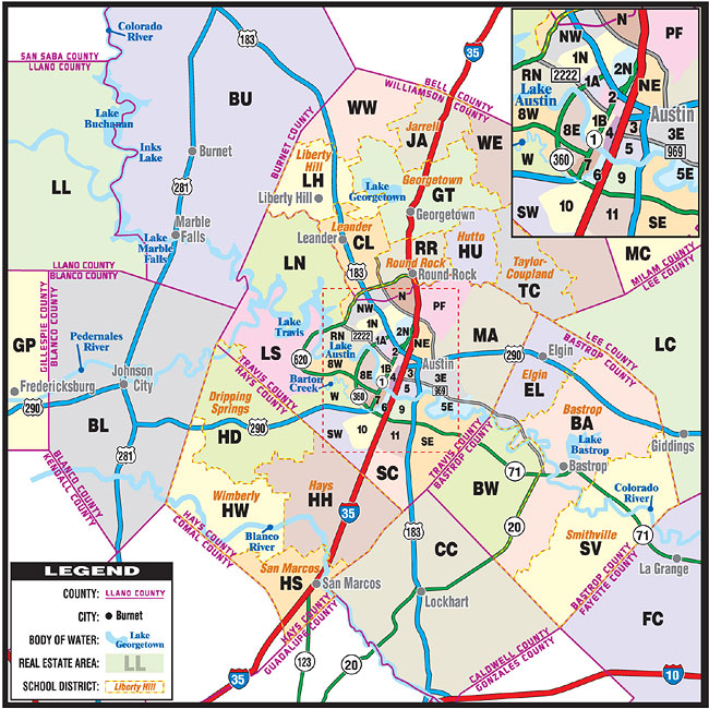 Austin MLS map.