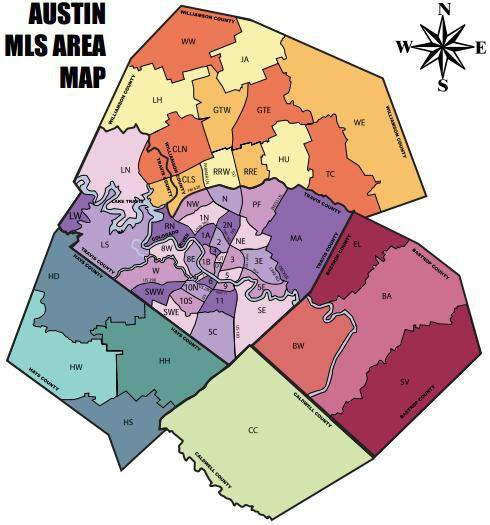 Austin MLS Area Map