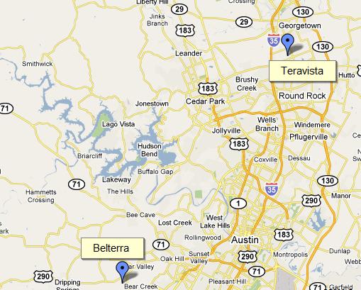 Austin Belterra and Teravista Map