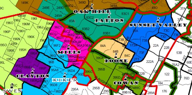 Austin ISD Boundary Map SW Austin