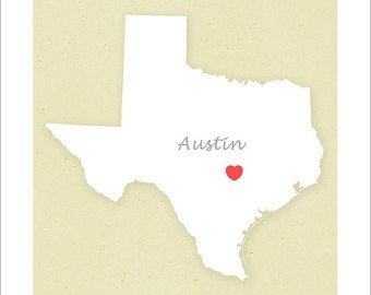 Austin on map