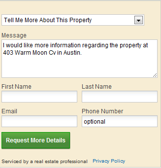 Realtor.com Request Form