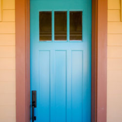 House with Blue Door Photo
