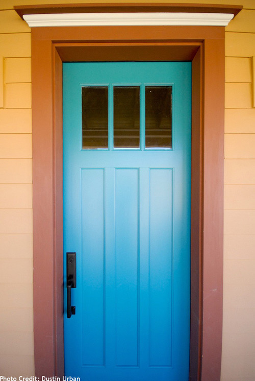 House with Blue Door Photo