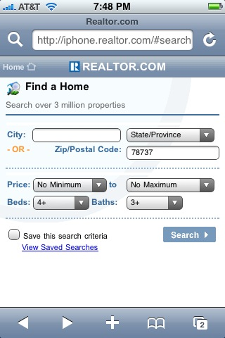 iphone and realtor.com